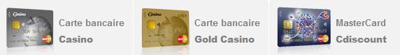 cartes bancaires Casino