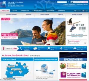 Site web banque Occitane