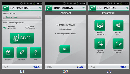 paiement mobile kix bnp paribas