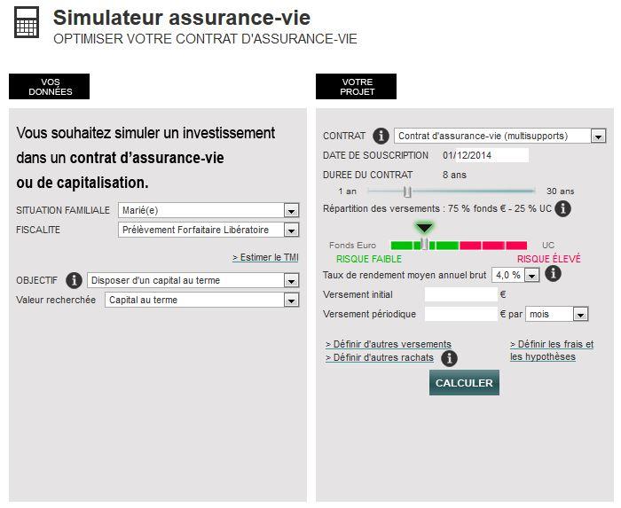 simulateur assurance vie