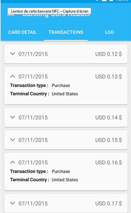 application lecteur de carte bancaire