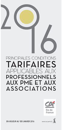 tarifs pros pme credit agricole ile de france